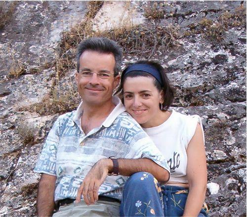 Marifé y Darío en la Sierra Pela, en agosto de 2003